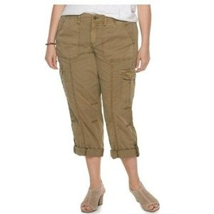 PLUS SIZE SONOMA GOODS FOR LIFE TWILL PANTS